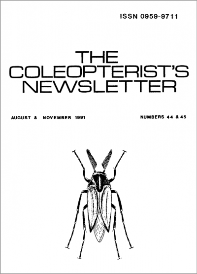 Cover of The Coleopterist's Newsletter 44-45